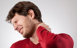 River Stone Massage - South Edmonton - man with sore neck
